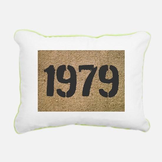 Vintage Year Customizable Canvas Lumbar Pillow