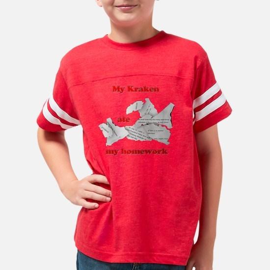 My Kraken ate my homework Youth Football Shirt