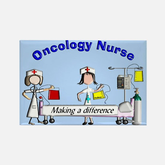 Oncology Nurse making a diff BLUE Magnets