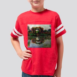 Claude Monet Rose Elbows Youth Football Shirt