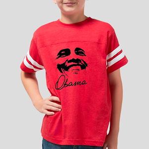 Obama Face 14 Oblack Youth Football Shirt
