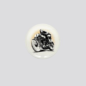 Classic Cafe Racer Mini Button