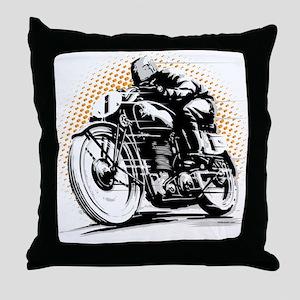 Classic Cafe Racer Throw Pillow