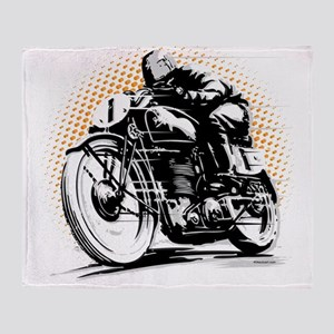 Classic Cafe Racer Throw Blanket
