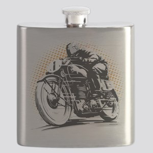 Classic Cafe Racer Flask