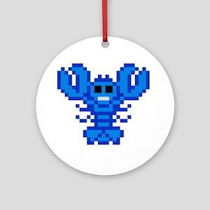 8 bit lobster blue Round Ornament