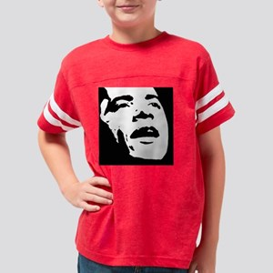Obama Face 10 filled Youth Football Shirt