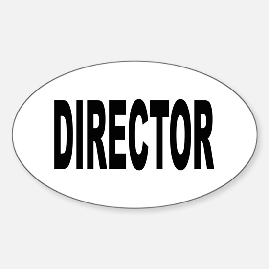 Director Oval Decal