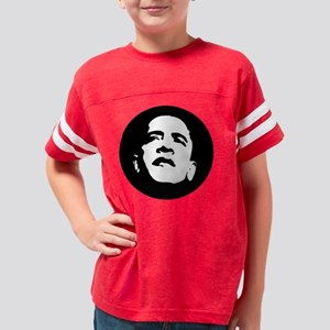Obama Face 5 filled Youth Football Shirt