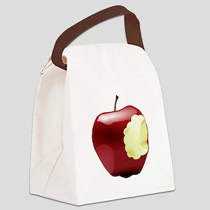 Think Different Apple bitten Canvas Lunch Bag