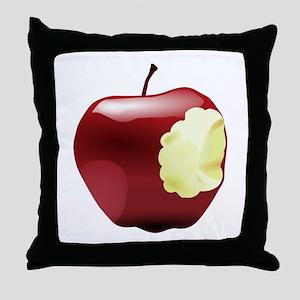 Think Different Apple bitten Throw Pillow