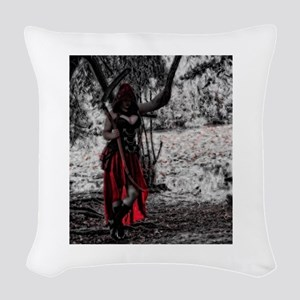 Lady Death Woven Throw Pillow