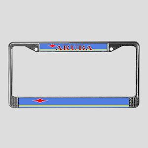 Aruba Blank Flag License Plate Frame
