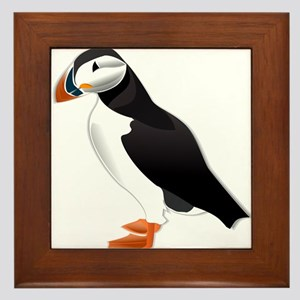 Atlantic Puffin Look forward to love Framed Tile