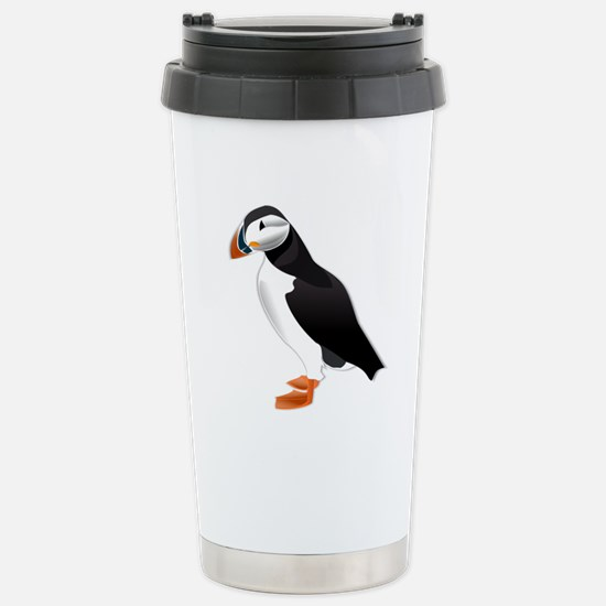 Atlantic Puffin Look forward to love Travel Mug