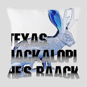 Jackolope5 Woven Throw Pillow