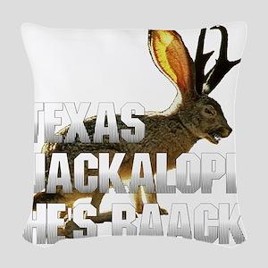 Jackolope4 Woven Throw Pillow