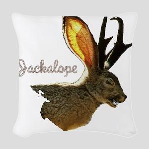 Jackolope8 Woven Throw Pillow