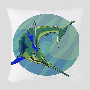 sailfish2 Woven Throw Pillow
