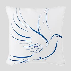 dove2 Woven Throw Pillow