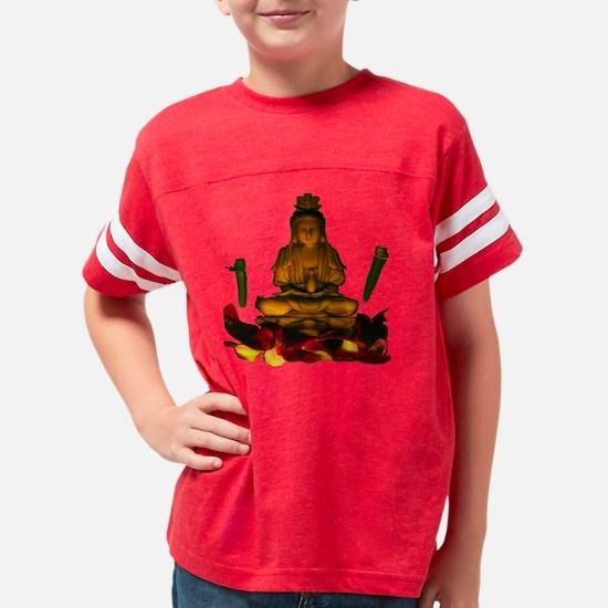 Kuan Yin Black T-shirt Youth Football Shirt
