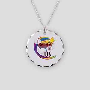 I Believe In Us Cute Believer Design Necklace Circ