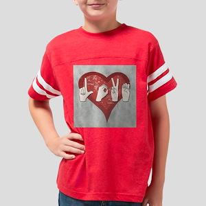 LoveASL2 Youth Football Shirt