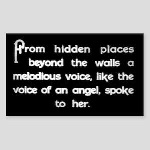 """Voice of an Angel"" Rectangle Sticker"