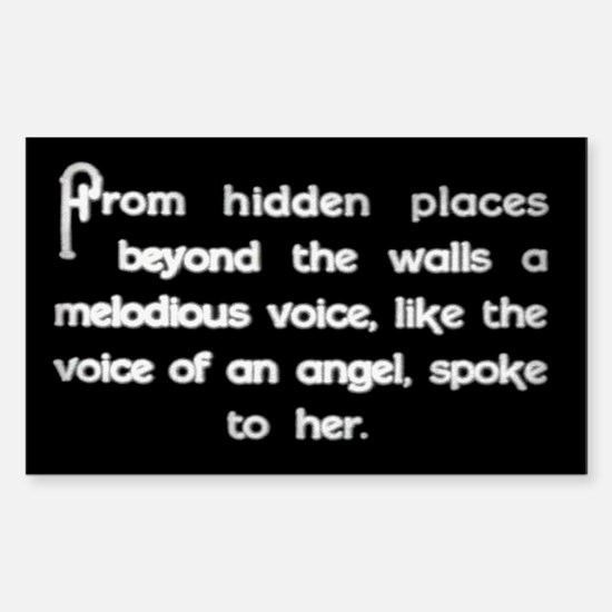 """Voice of an Angel"" Rectangle Decal"
