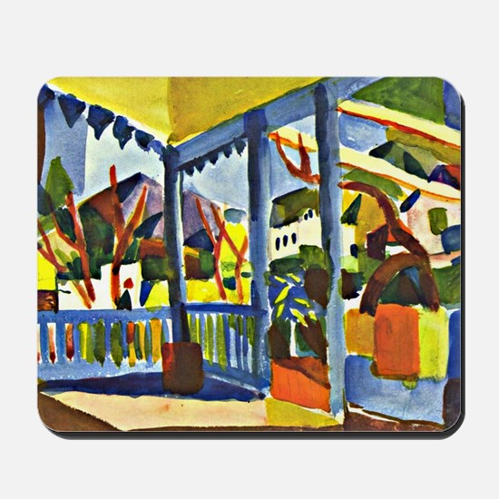 Terrace of the Country House in St. Germ Mousepad