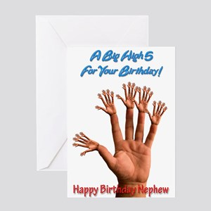 For nephew, A Big Birthday High 5 Greeting Cards