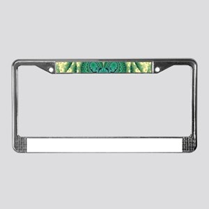 Green Heart Tribal Love License Plate Frame