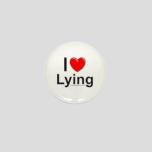 Lying Mini Button
