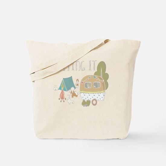 Unique Ruffed Tote Bag