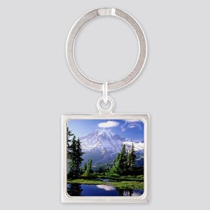 Reflection Square Keychain