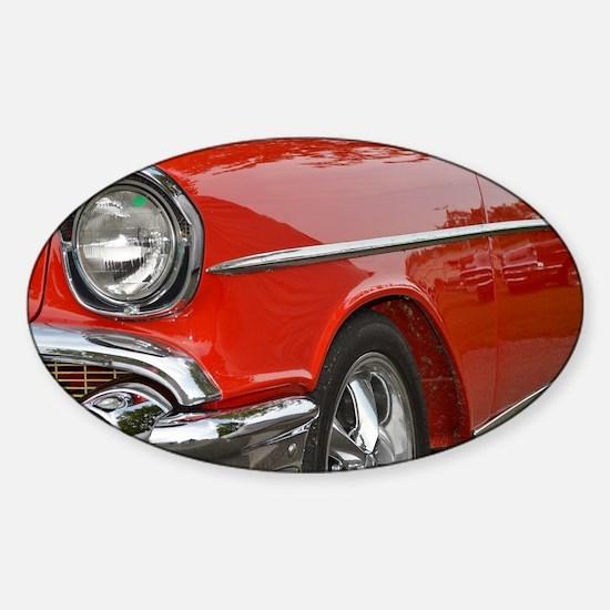 Classic Car Sticker (Oval)