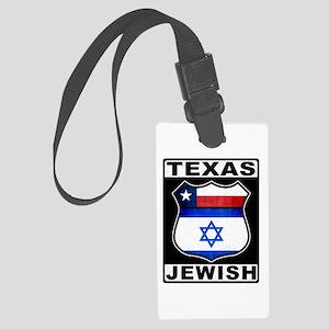 Texas Jewish American Luggage Tag