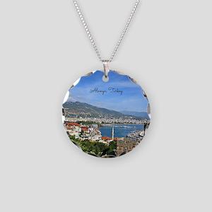 Alanya, Turkey scenic landsc Necklace Circle Charm