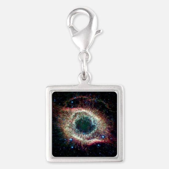 Helix Nebula Silver Square Charm