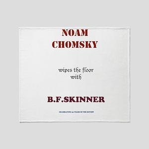 Chomsky VS. Skinner Throw Blanket