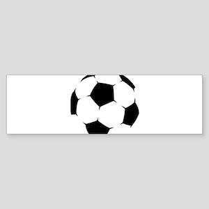 Black Soccer Ball Bumper Sticker