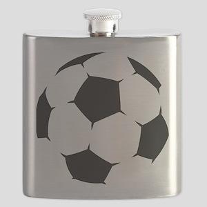 Black Soccer Ball Flask