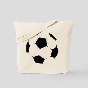 Black Soccer Ball Tote Bag