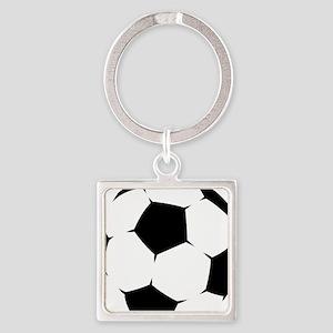 Black Soccer Ball Keychains