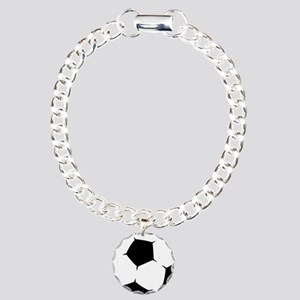 Black Soccer Ball Bracelet