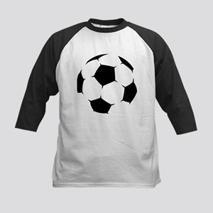Black Soccer Ball Baseball Jersey