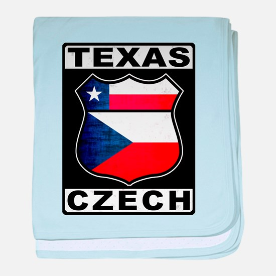 Texas Czech American baby blanket