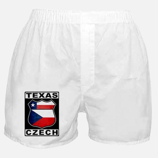 Texas Czech American Boxer Shorts