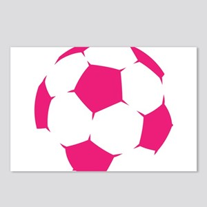 Pink Soccer Ball Postcards (Package of 8)