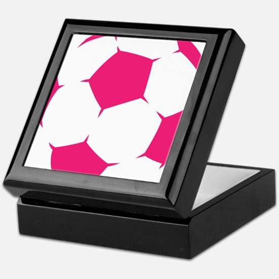 Pink Soccer Ball Keepsake Box